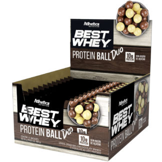 Best Whey Protein Ball (12 un. 50g Chocolate Branco + Chocolate ao Leite) Atlhetica Nutrition