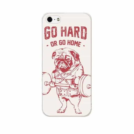 Capa Case Iphone 5 e 5s Pug Go Hard Or Go Home