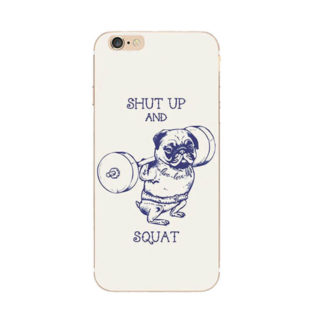 Capa Case Iphone 6 Pug Shut Up And Squat