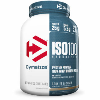 ISO 100 Whey Isolado (1,4kg) Cookies & Cream Dymatize Nutrition