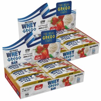 Kit 2 Whey Grego Bar (12 Barras de 40g) Nutrata