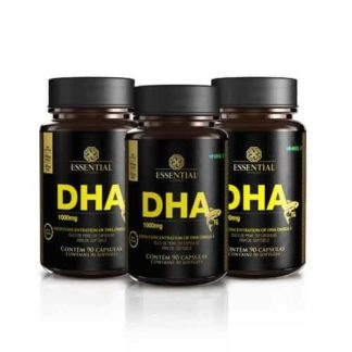 Kit DHA 1g (3 potes de 90 caps) Essential Nutrition