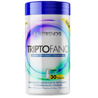 Triptofano 500mg + Vit B6 (30 caps) Nutrends