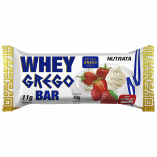 Whey Grego Bar (40g Morango com Chantilly) Nutrata